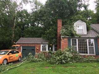 Nashville tree roof damage