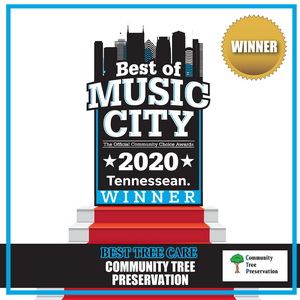 Music City tree service award TN